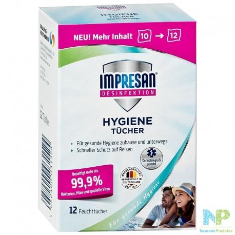 Impresan Hygiene Feuchttücher 12 Stück
