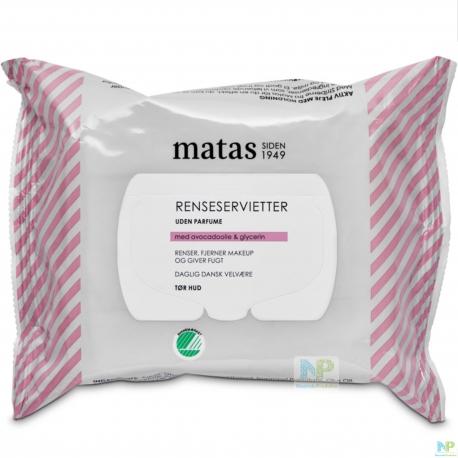 Matas Reinigungstücher - trockene Haut 25 Stk.