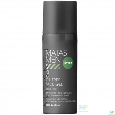 Matas Men Oil Free Face Gel - ölfreies Gesichtsgel - Unreine Haut 50 ml