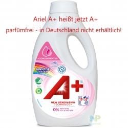 A+ Sensitive Colour - Flüssigwaschmittel Farbwäsche 16 WL 880 ml