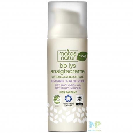 Matas Natur BB Cream lys mit LSF 15 - hell 50 ml