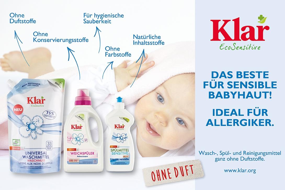 Das Beste für sensible Babyhaut! Ideal für Allergiker!