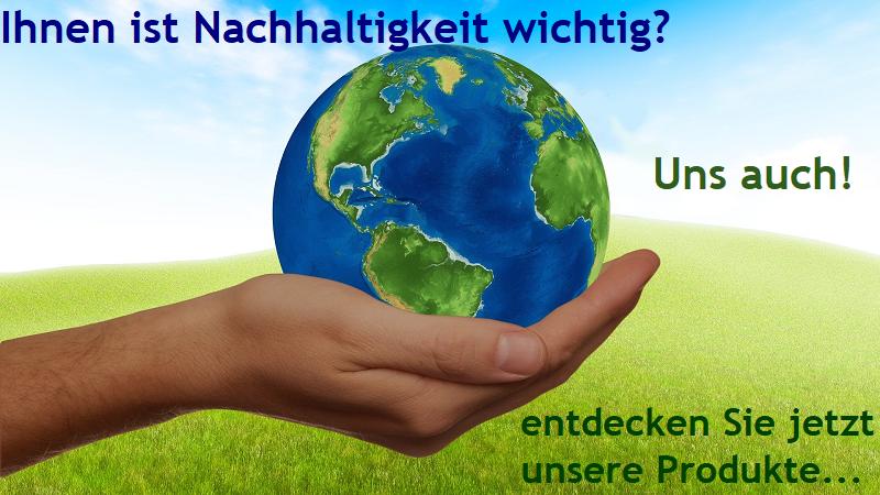 Produkte mit Nachhaltigkeit